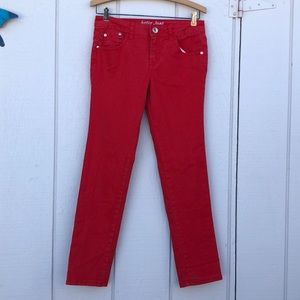 Justice Bottoms - Justice size 12 Red Jeans